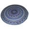 Blue mandala tapestry yoga mat beach roundie