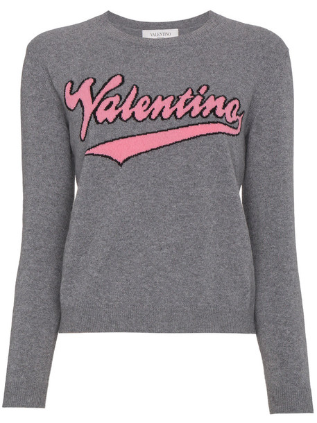 Valentino jumper women wool grey sweater