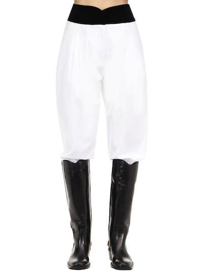 ÀCHEVAL PAMPA Cotton Blend Satin Pants White/black