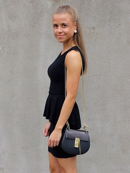 pearl little black dress black dresses black purse