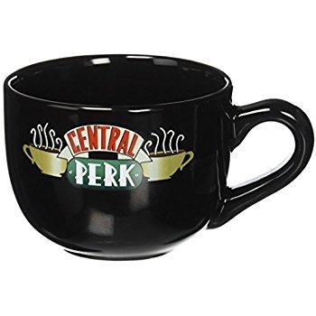 Amazon.com: Friends Central Perk Latte Coffee Mug 16oz - Choose White or Black (Black 16oz): Home & Kitchen