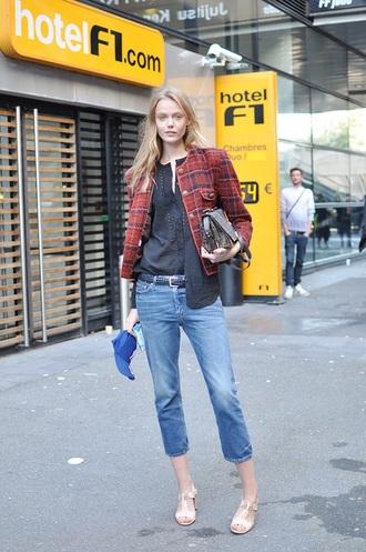 jeans model style models off duty frida gustavsson streetstyle