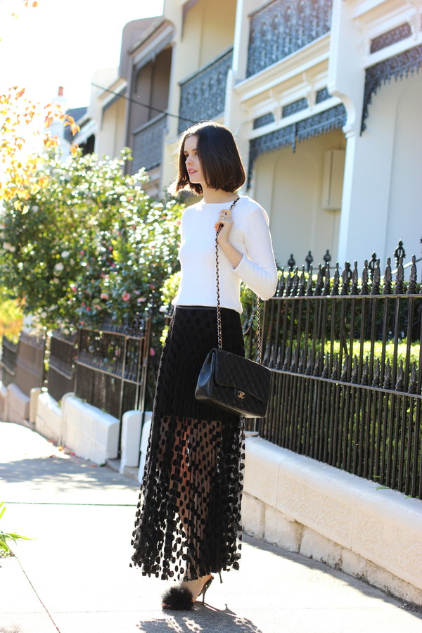 by chill blogger skirt bag shoes