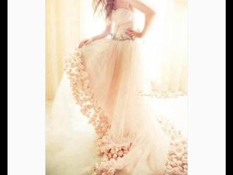 dress wedding dress roses strapless wedding dresses
