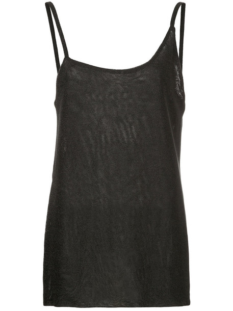 Kacey Devlin top metallic asymmetrical women black