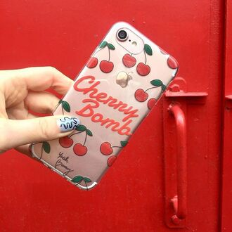 phone cover yeah bunny cherry cute fruits