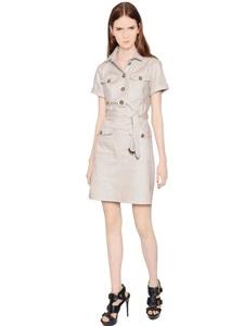Cotton gabardine dress