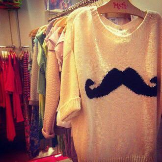 sweater moustache