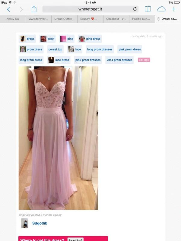 dress corset lace pink straps pink dress prom dress