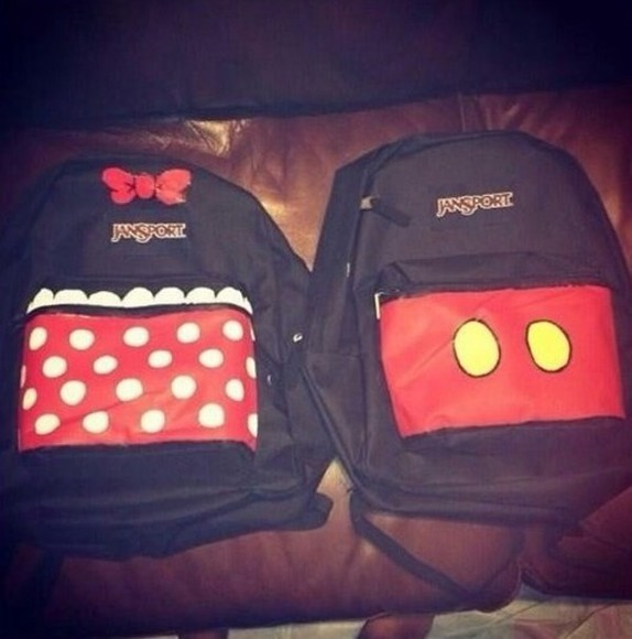 mickey mouse bag backpack couples matching minnie mouse