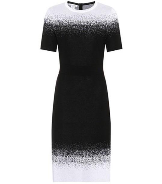 oscar de la renta dress wool black