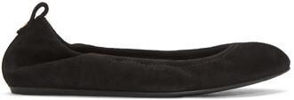 classic flats suede black shoes