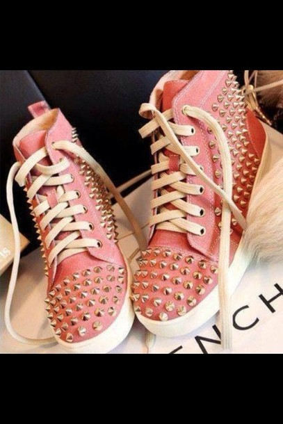 shoes studded shoes studs converse pink cute