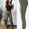 Women's sexy ripped high waist skinny jeans