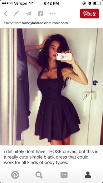 dress black dress halter dress