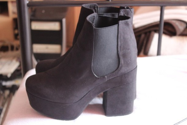 Goth H&m Platform Shoes