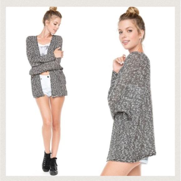 Brandy melville speckled gray caroline cardigan from ana's closet on poshmark