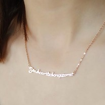 WANDERLUSTINY | Quotes of Love Necklace (Stainless Steel!) | Fashion Jewelry Accessories Online Store