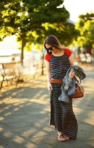 dress corilynn blogger dress t-shirt shoes belt bag jacket