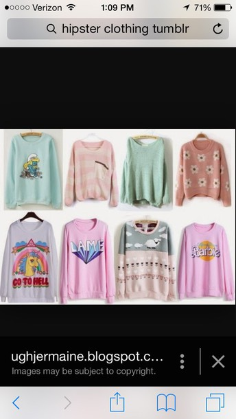 sweater pastel sweater barbie my little pony
