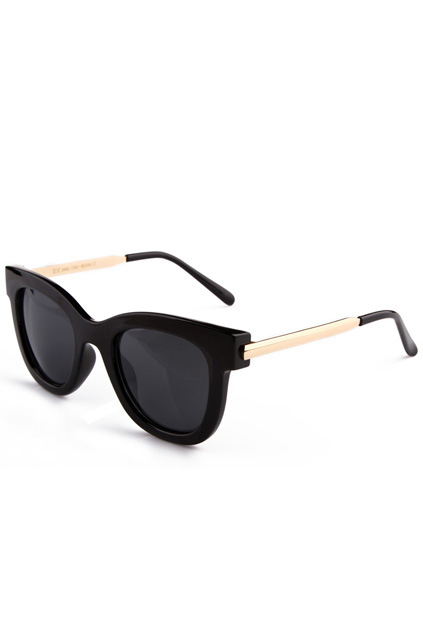 ROMWE | Rounded Black Sunglasses, The Latest Street Fashion
