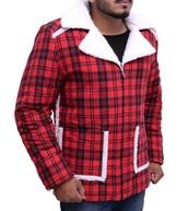 jacket,ryan reynolds coat,deadpool,shearling jacket,flannel jacket,halloween costume,samishleather