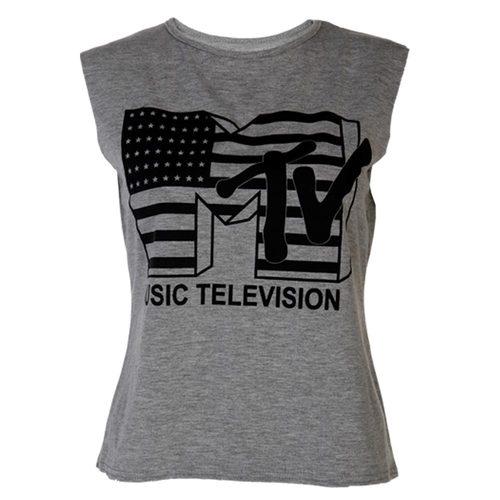 LADIES MTV TELEVISION T SHIRT WOMENS TOP VEST SIZE 8-14 | Amazing Shoes UK