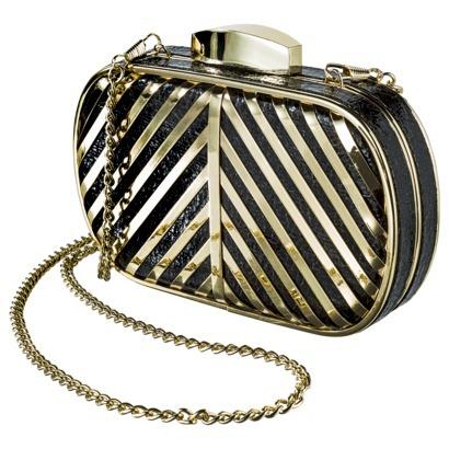 Target Limited Edition Stripe Clutch - Black : Target