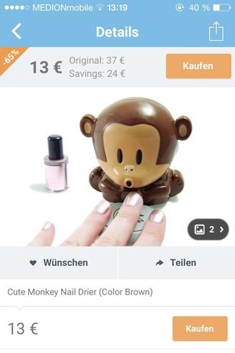 nail accessories nail polish monkey nails art technology funny valentines day gift idea