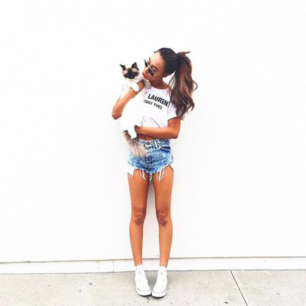 shorts mylifeaseva t-shirt summer summer outfits