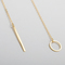 Chic y shaped gold plated bar circle lariat style necklace