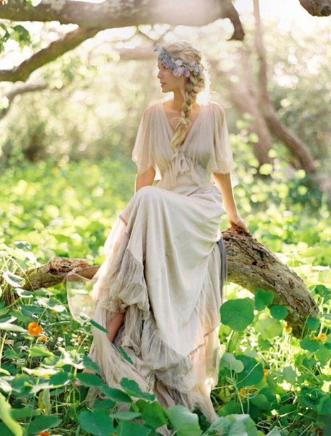 dress vintage dress beige dress simple dress