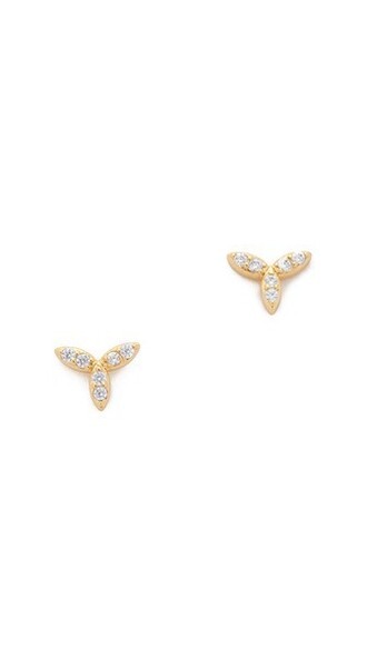 mini clear earrings stud earrings gold jewels