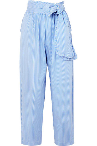MSGM pants cotton blue