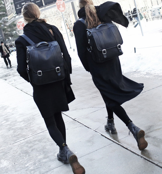 leather bag backpack fashion style cool coture