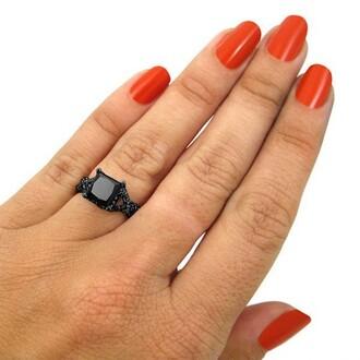 jewels black diamond ring princess cut black diamond ring evolees.com brilliant princess cut 2.15 ct black diamond engagement ring in black gold plated silver