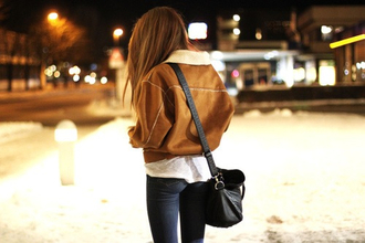 bag clothes coat beautiful warm coat classy jacket winter outfits suede jacket fall jacket brown girl light brown fell brown coat puffy coat brown leather coat fur