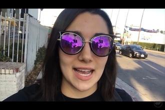 sunglasses purple cat eye black black and purple sunglasses