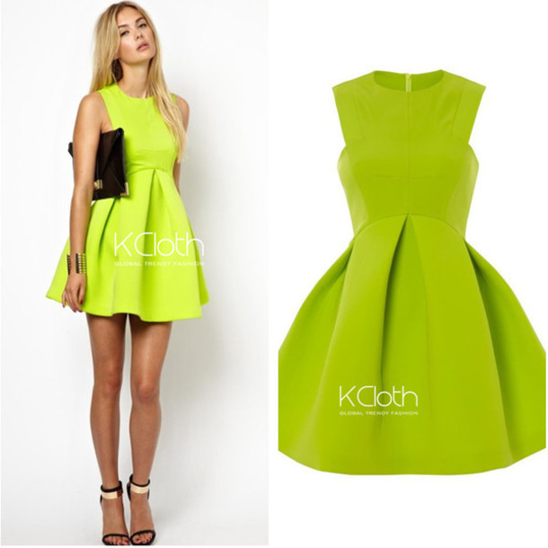 Dress: party dress, fashion dress, sexy party dresses, green dress ...