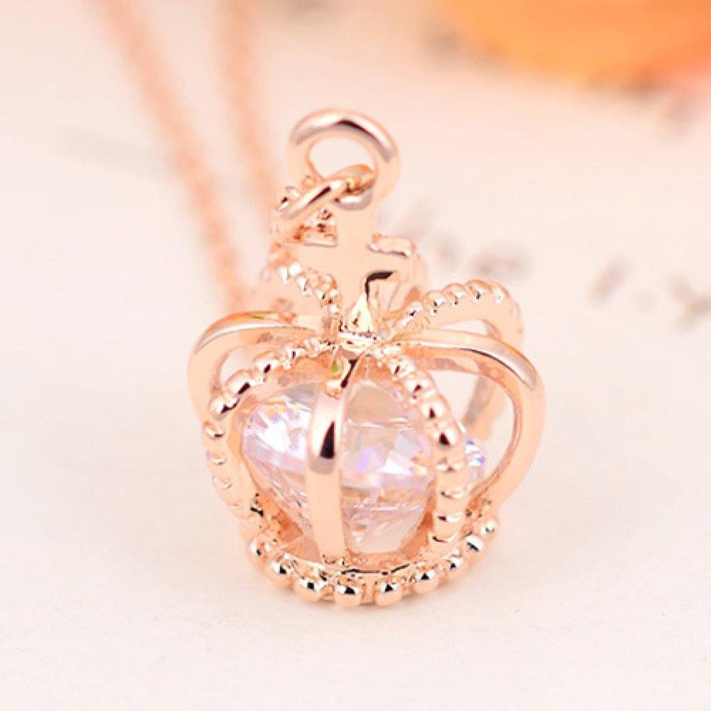 Amazon.com: Trend Leader The European Biyabi sweet cross crown fashion jewelry necklaces M00490-295 female: Jewelry