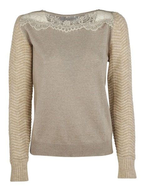 Blumarine sweater lace beige