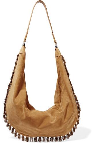 bag shoulder bag suede