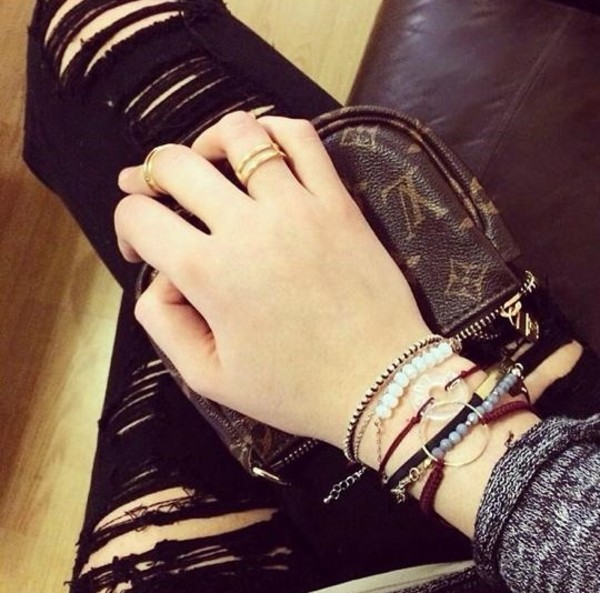 jeans ripped jeans louis vuitton bracelets