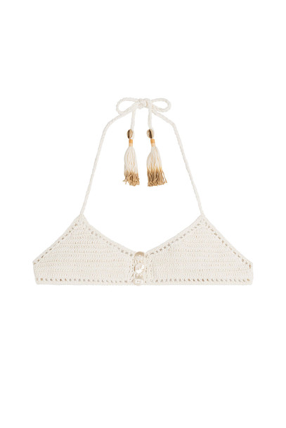She Made Me bikini bikini top knit crochet white swimwear