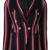 Tagliatore - stripe print blazer - women - Cotton/Cupro - 44, Blue, Cotton/Cupro