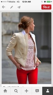 jacket,coat,cream coat,blazer
