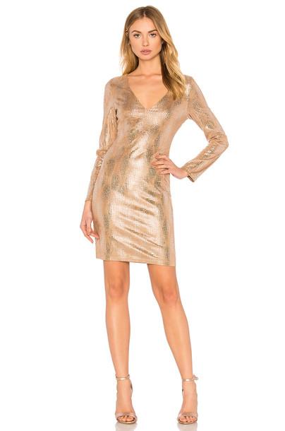 WYLDR dress mini dress mini metallic silver