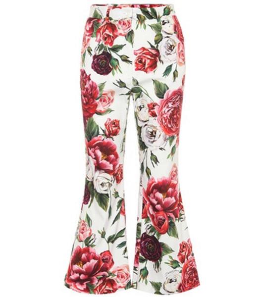 Dolce & Gabbana Floral-printed stretch cotton pants