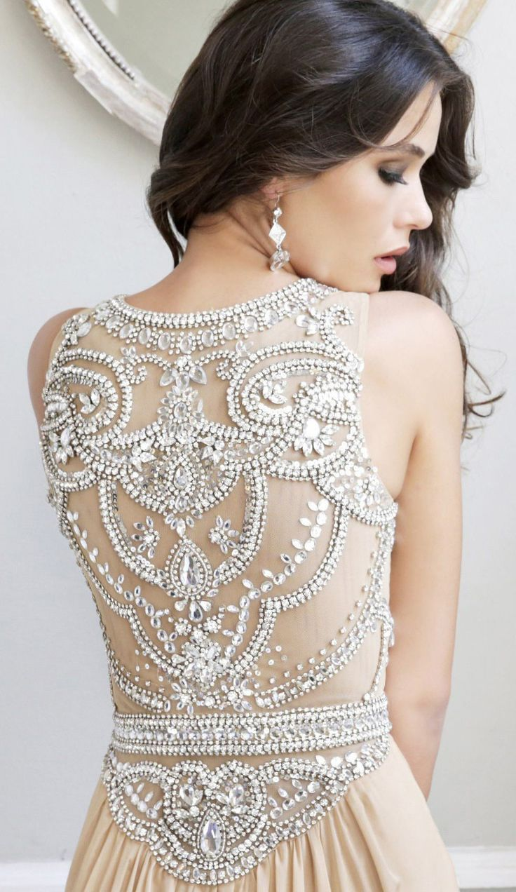 Sexy Beading Prom Dress, Backless Floor-length Long Prom Dress ...
