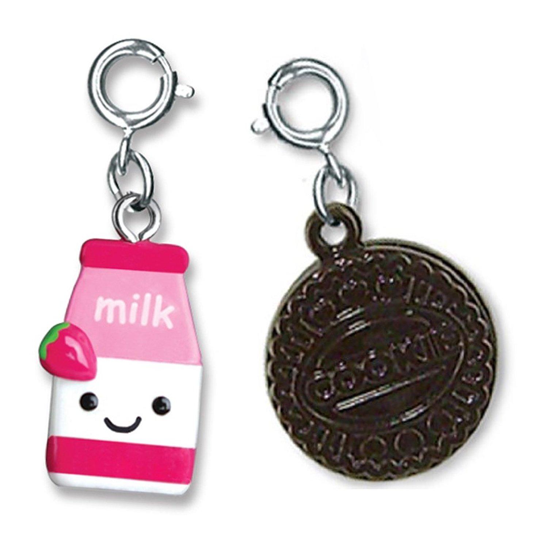 Amazon.com: CHARM IT! Strawberry Milk & Cookies - Two Charm Set: Jewelry